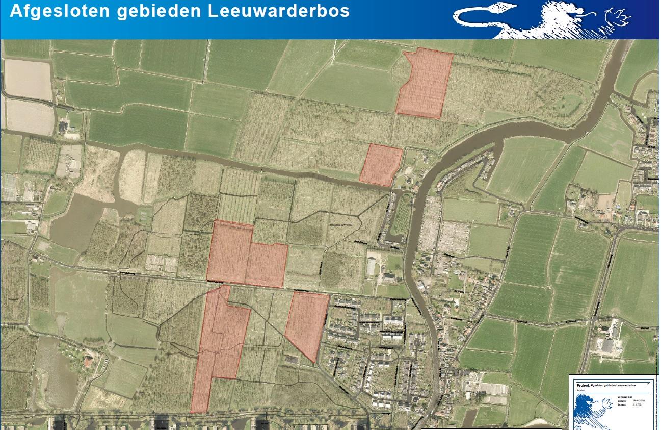 Kaart Leeuwarder Bos